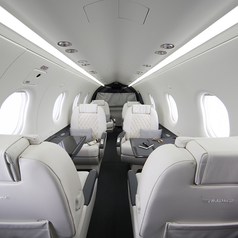 PC-12 aircraft interior cabin